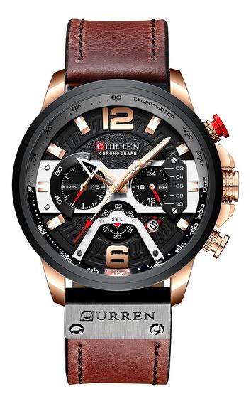 Curren 8329 Relógio De Quartzo Homens De Negócios Simples