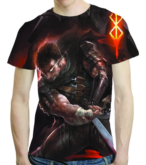 Camisa Anime Camiseta Berserk - Estampa Total 04