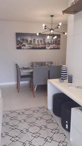 Apartamento Com 2 Dormitórios À Venda, 59 M² Por R$ 350.000,00 - Vila São Pedro - Santo André/sp - Ap1366