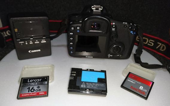 Câmera Canon 7d - Estado De Nova