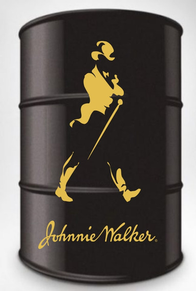 Adesivo Decorativo Johnny Walker Dourado Tambor 200l