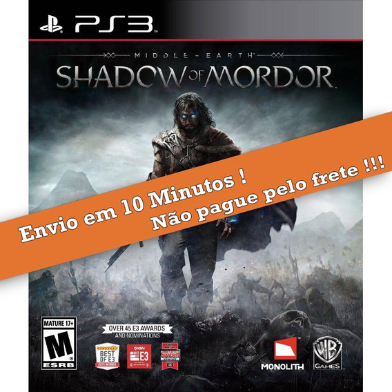Middle Earth Shadow Of Mordor Ps3 Psn Envio Imediato
