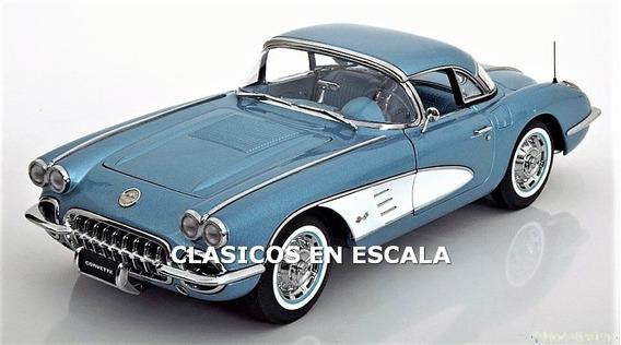 Chevrolet Corvette 1958 - Icono Clasico - Autoart 1/18