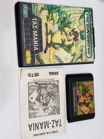 Taz Mania Mega Drive Completo Tectoy Original