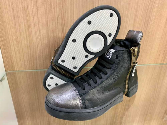 Tênis Sneaker Couro - Botinha Fitness Treino Hardcore