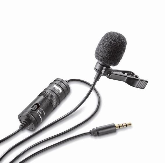 Microfone De Lapela Greika Gk-cm1 Para Dslr, iPad E Celular