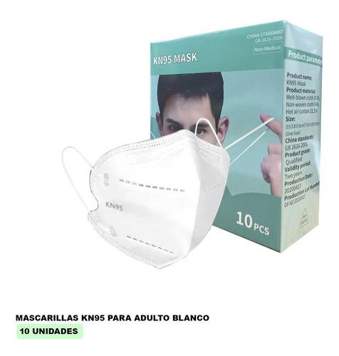 Mascarilla Kn95 Blancas - 10 Unid - Formato Individual