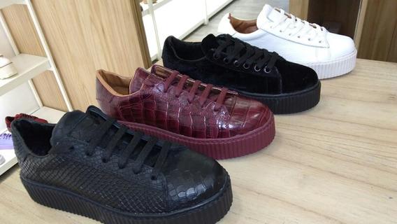 Zapatillas Zapatos Cuero Legitimo Mujer