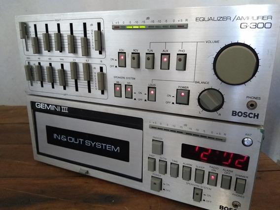 Gemini 3 + Equalizador Bosch Toca Fitas Radio Som Bombox Gol