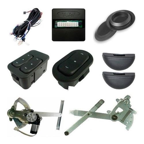 Vidro Elétrico Antiesmag + Travas Elétricas Gm S10 2p