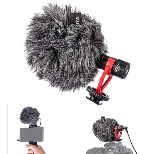 Imagem 1 de 6 de Microfone Externo P/ Câmeras/celular-boya By-mm1 Proaventura