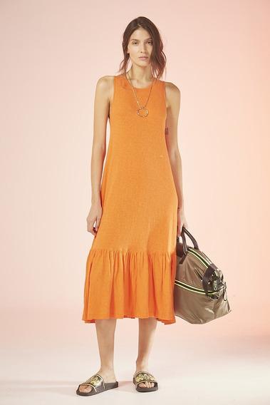 Vestido Largo Ambrosius Naranja. Cher 2020.