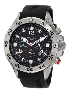 Reloj Nautica N14536g Crono Silicona Hombre 100% Original