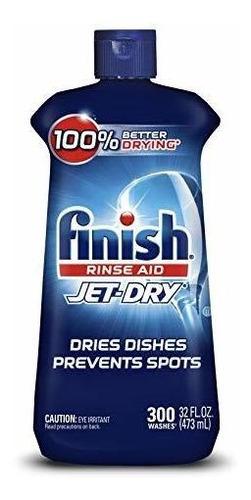 Acabado Jet Dry Rinse Aid 32 Oz / 300 Lavadas, Lavavajillas!