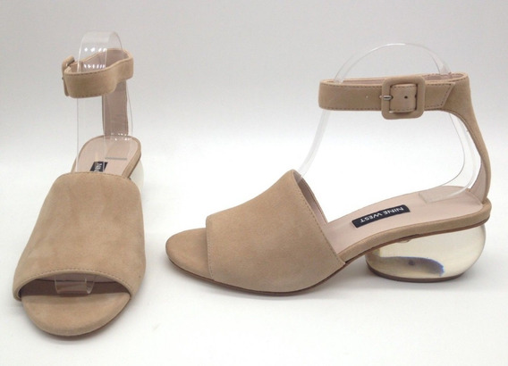 Nine West Enyo Sandalia Tacon Transparente Natural T 24.5