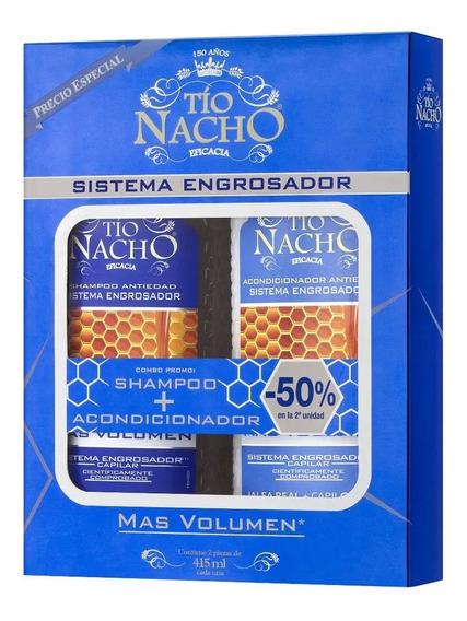 Combo Tio Nacho Engrosador Anti Caida Shampoo Y Acondicionad