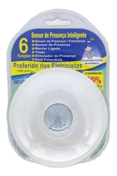 Kit 4 Sensor De Presença Com Fotocélula Qualitronix Qa19m
