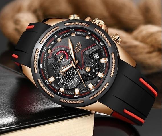 Relógio Masculino Lige 9957 Luxo Casual Esportivo
