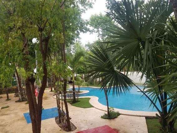 Se Vende Casa De 2 Recamaras Semiamueblada En Los Olivos, Playa Del Carmen P3248