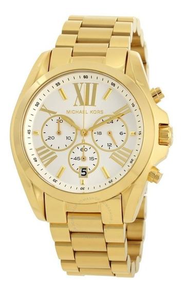 Relógio Michael Kors Mk6266 Bradshaw Dourado Completo