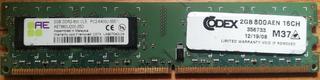 Memoria Ram Ddr2-800 2 Gb Para Pc.