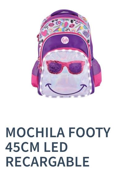 Mochila Footy 45cm Led Recargable
