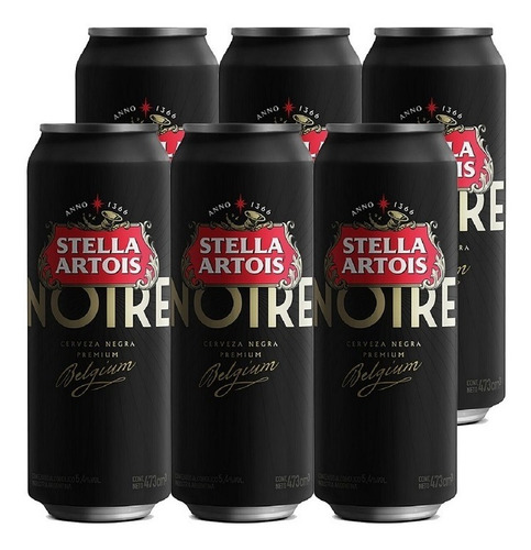 Imagen 1 de 10 de Stella Artois Noire . Cerveza . 473ml X 6 - Tomate Algo® -