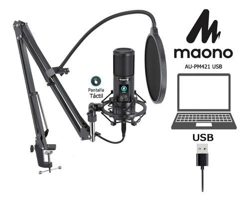 Micrófono Usb Streaming Podcast Gamer Brazo Araña Antipop