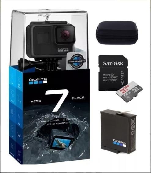 Câmera Digital Gopro Hero 7 Black 4k+ Cartão 64gb + Case