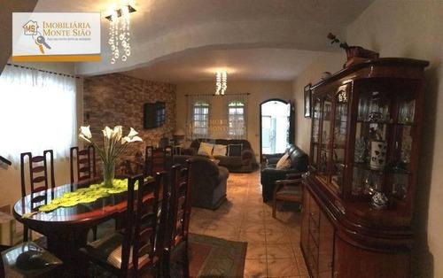 Sobrado Com 3 Dormitórios À Venda, 262 M² Por R$ 830.000,00 - Jardim Bela Vista - Guarulhos/sp - So0023