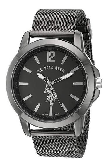 Reloj De Hombre Polo Modelo Usc80384 Plata Oscuro