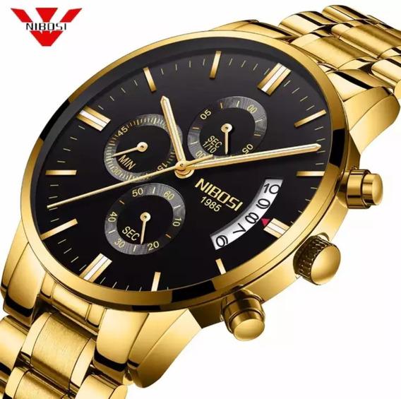 Relógio Original Nibosi Resistente A Riscos Frete Grátis