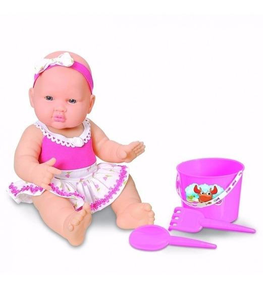 Boneca Bebe Praia Infantil Menina Brincar - Com Frete Grátis