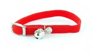 Collar Para Gato Elastizado Con Cascabel (consultar Color)