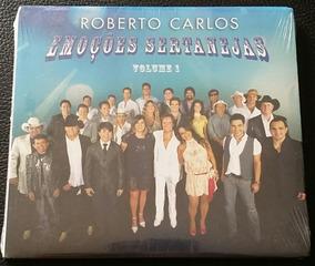 Kit 2 Cds Roberto Carlos - Emoções Sertanejas - Vol. 1 E 2
