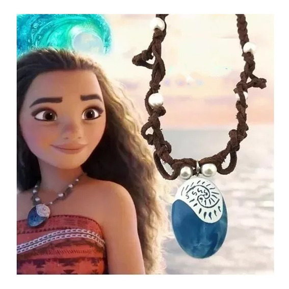 Collar Moana Mayoreo Disney Princesa Corazon Tefiti