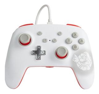 ..:: Control Pro Alambrico ::.. Switch Super Mario White