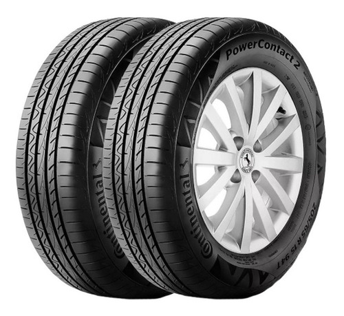 Kit X2 Neumaticos 195/65r15 91h Continental Power Contact 2