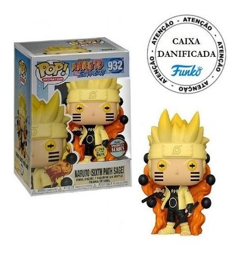 Boneco Pop Funko Naruto Sixth Path Sage 932 Brilha No Escuro
