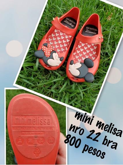 Zapatitos De Goma Mini Melissa Nro 22 Usados!