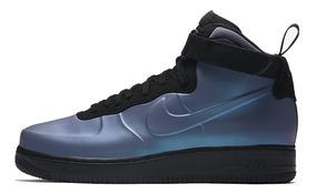 Tênis Nike Air Force 1 Mid Foamposite Blue, Pronta Entrega.