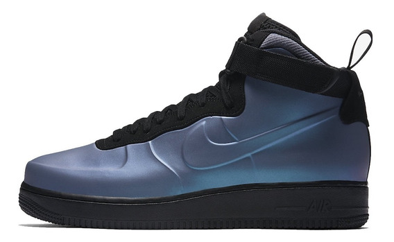 Tênis Nike Air Force 1 Mid Foamposite Blue, Pronta Entrega.