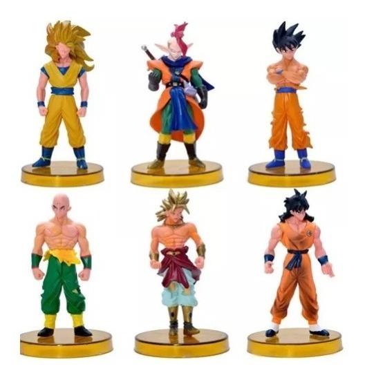 Kit 6 Action Figure Dragon Ball Goku Yamcha Broly Goku