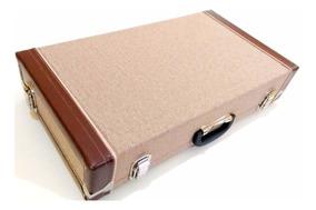 Pedalboard Hard Case De Pedais Pedaleira Tweed 60x33x11 Novo