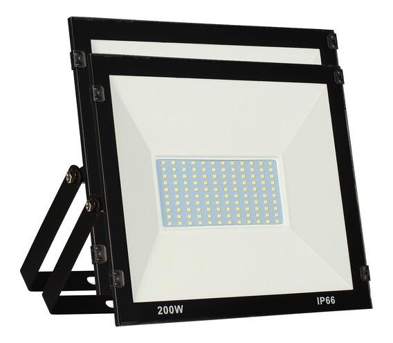 Kit 2 Refletor Led Branco 200w 6000k Holofote Smd Prova Água