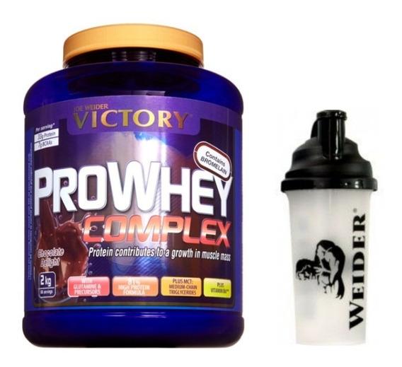 Proteina Premium 66 Servicios + Shaker Weider Importada