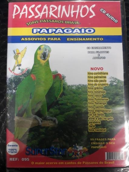 Cd Canto Papagaio E Calopsita Assobios Hinos