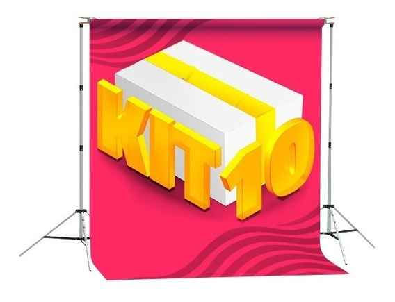 Kit 10 Fundos Fotográficos Em Tecido - 1,5x2,2m - À Escolher