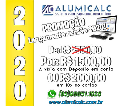 Alumicalc - Sistema Para Cálculos De Esquadrias De Alumínio