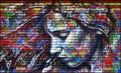 Grafite Poster 60x100cm Mulher Decorar Quarto Street Parede